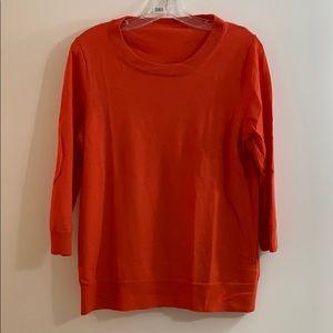 J Crew women's 3/4 sleeve sweater